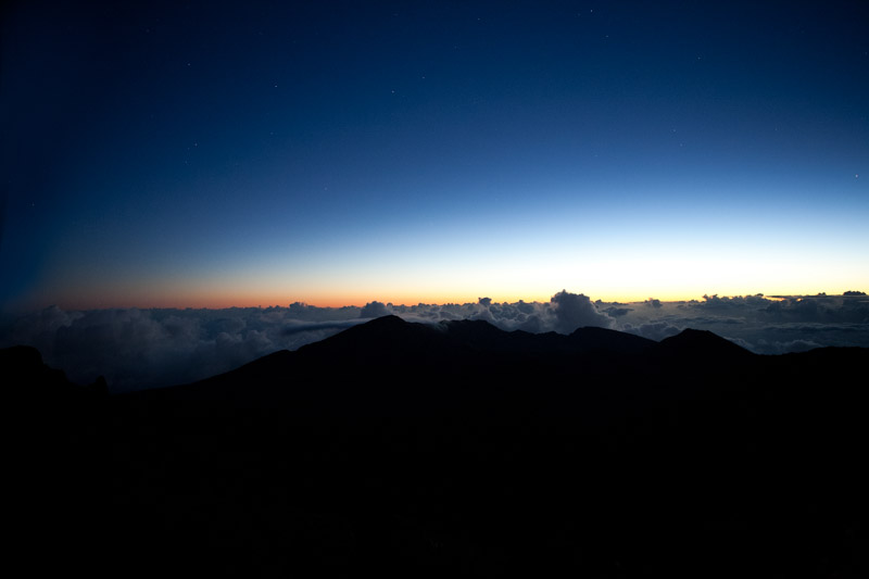 Sunrise at Haleakalā National Park, Hawaii