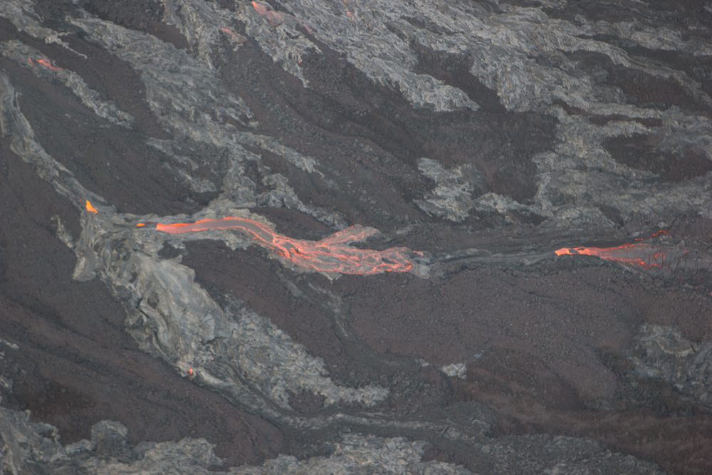 A little trickle of lava