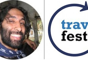 Navdeep Singh Dhillon of IshqInABackpack Speaking at the New York Travel Festival!